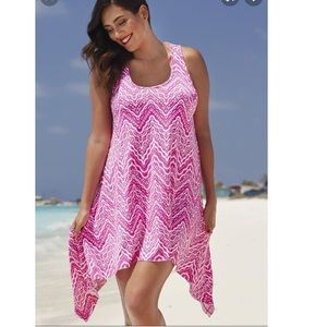 Swimsuits For All Sz 14/16 Pink Coverup